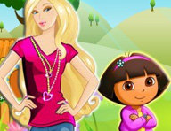 Barbie and Baby Dora Game